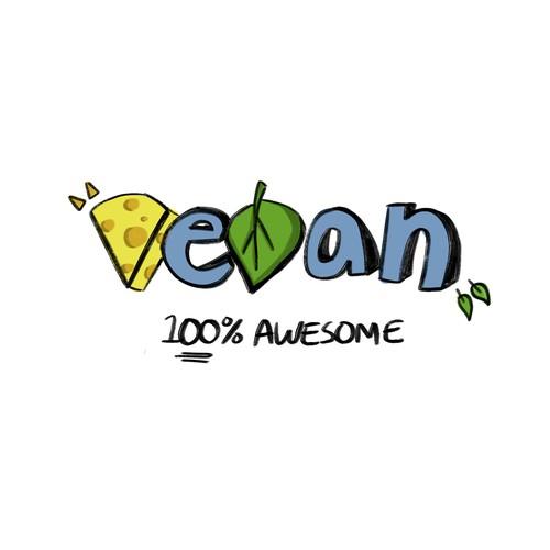 Logo concept for a vegan cheese brand.