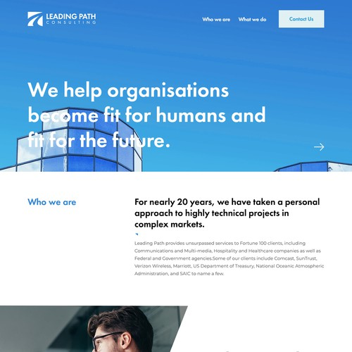 Bold and modern design for a consulting firm.