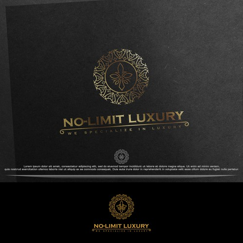 No limit luxury logo concept