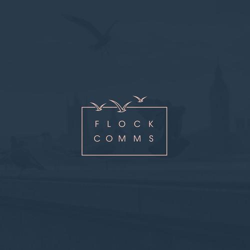 Clean Logo Design: Flock Comms