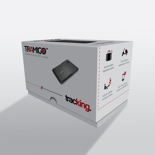 Sales box for tracking device