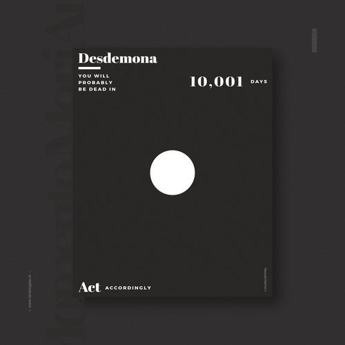 Minimalist design concept for Momento Mori