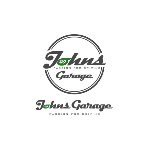Logo for classic sports car dealer Johns Garage