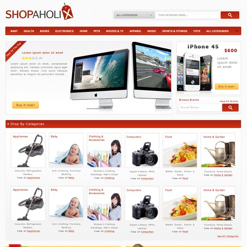New website design wanted for Shopaholix.com