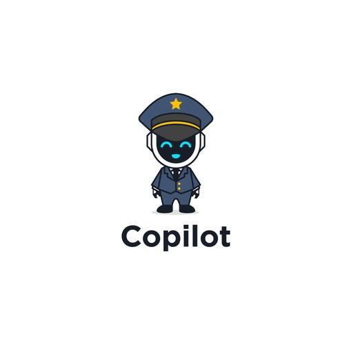 Modern Robot Pilot Logo