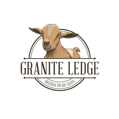 Emblem Logo for Goat Breeder