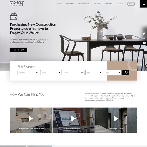 Landing page for property advocat company