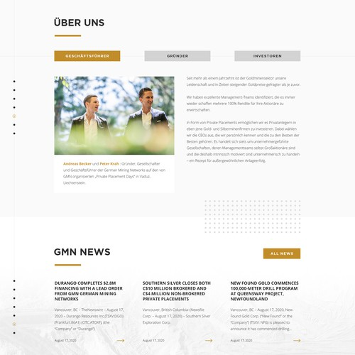 Website Design For GMN Gold Inc.