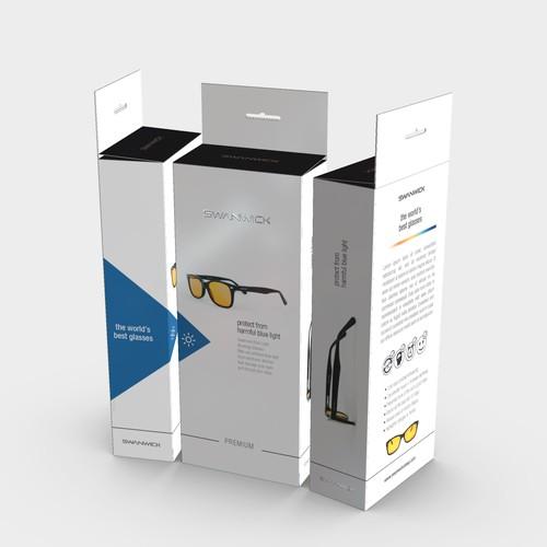 Glasses packaging design