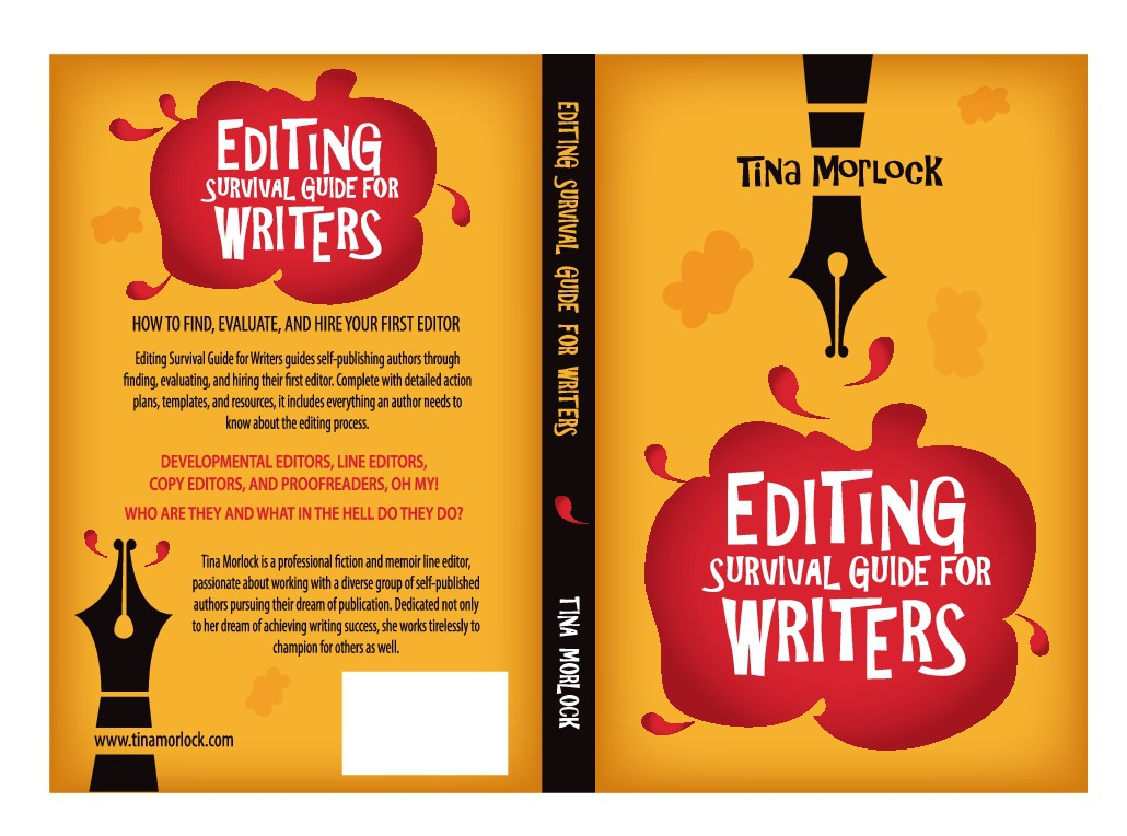 Design a colorful book cover for a book for writers