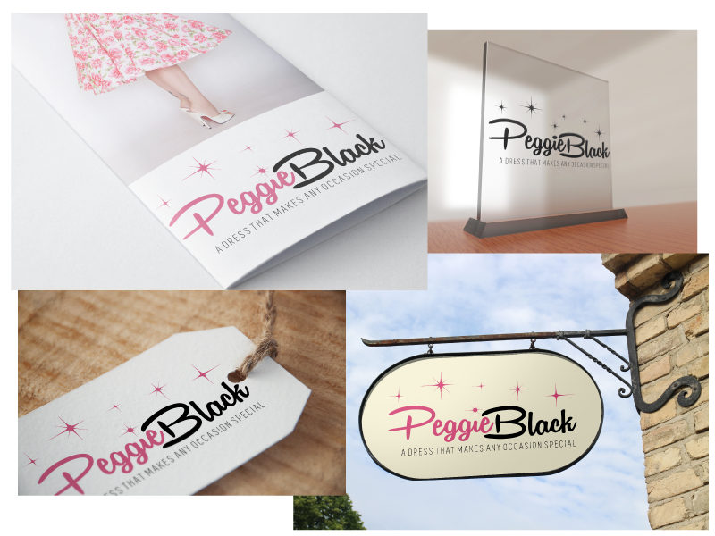Create a captivating pinup logo design with a twist for Peggie Black