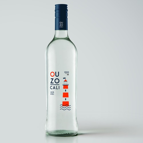 Ouzo bottle packaging
