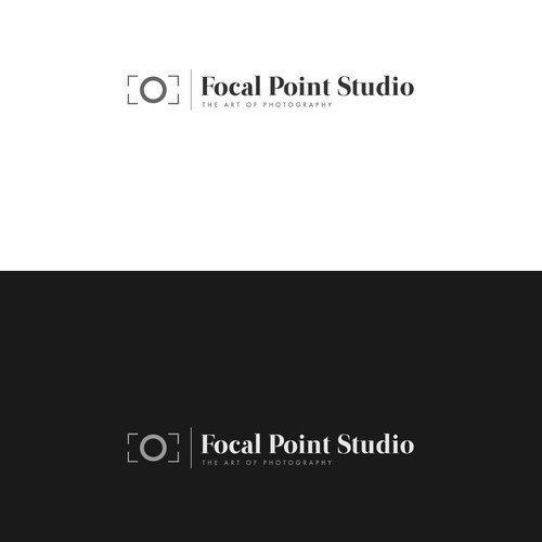 Create a a logo for a high end wedding portrait and commercial photography studio