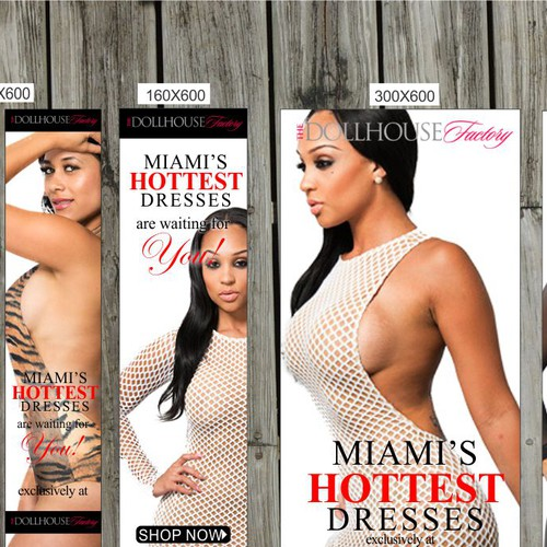 adwords banner pack for sexy women fashion E-Commerce