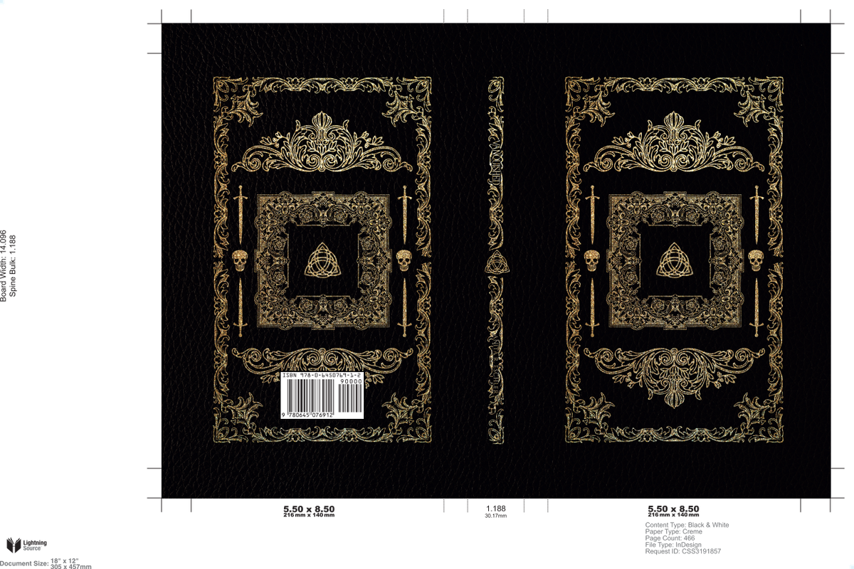 """""""Vanquished"""" - dustjacket and wrapped hardcover design"""