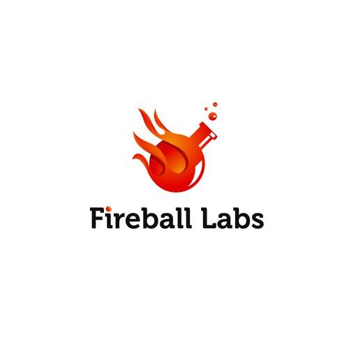 Fun logo for fireball labs