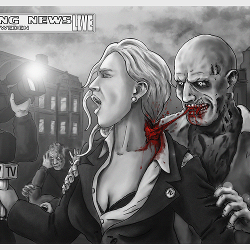 illustrations for zombie game trailer