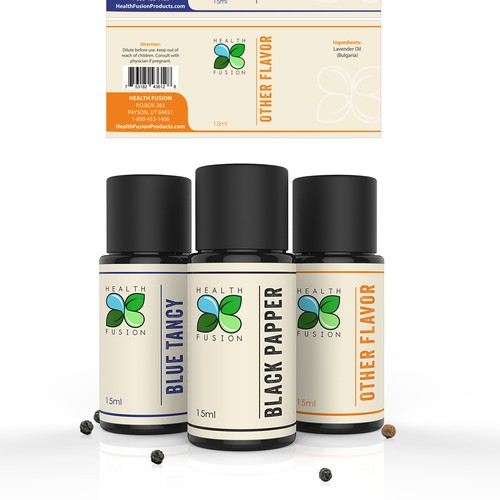 Clean, elegant, natural looking product label