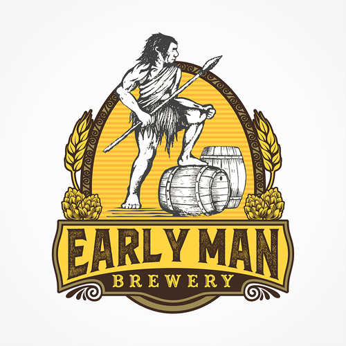 Create a logo and brand a new Brewery Startup in Colorado USA Early Man Brewery