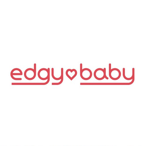 Bold edgy logo for baby brand