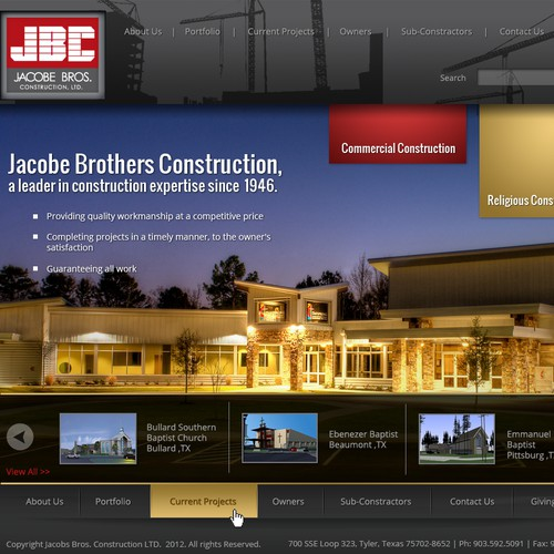 Emotive, Cinematic website design wanted for JBC