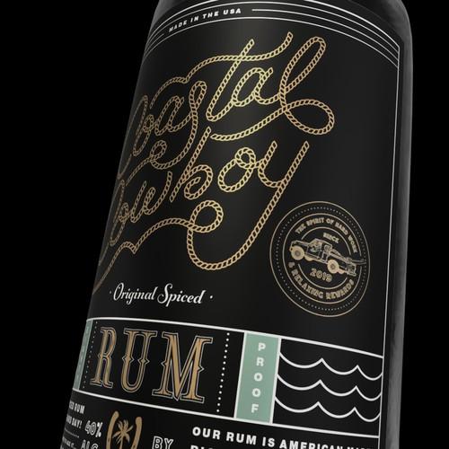 Coastal Cowboy Rum Label