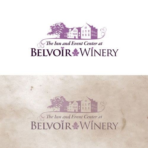 Create a logo for a winery with new event space & inn