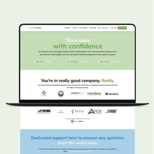 Cannabiz Media Website Design