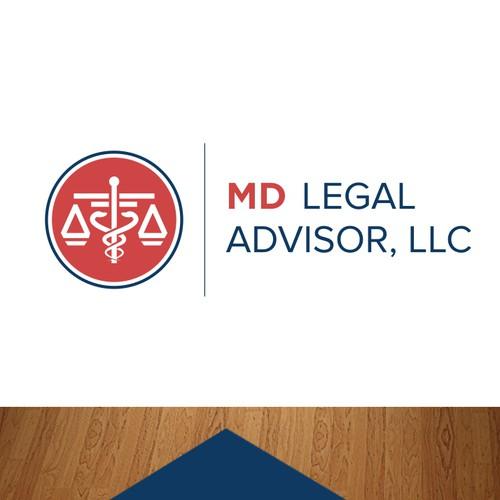 Logo concept for MD Legal Advisor, LLC
