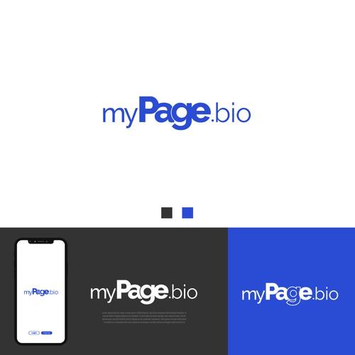 Minimal Logo Design for MyPage.bio