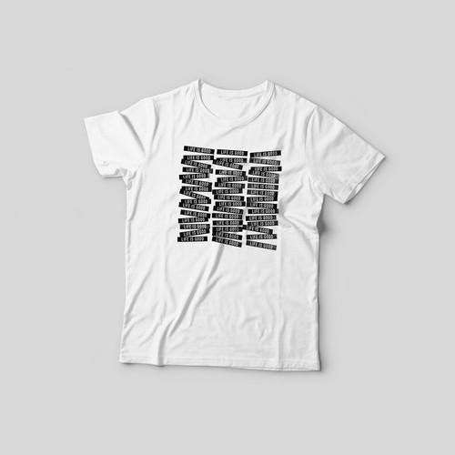 LIFE IS GOOD t-shirt print