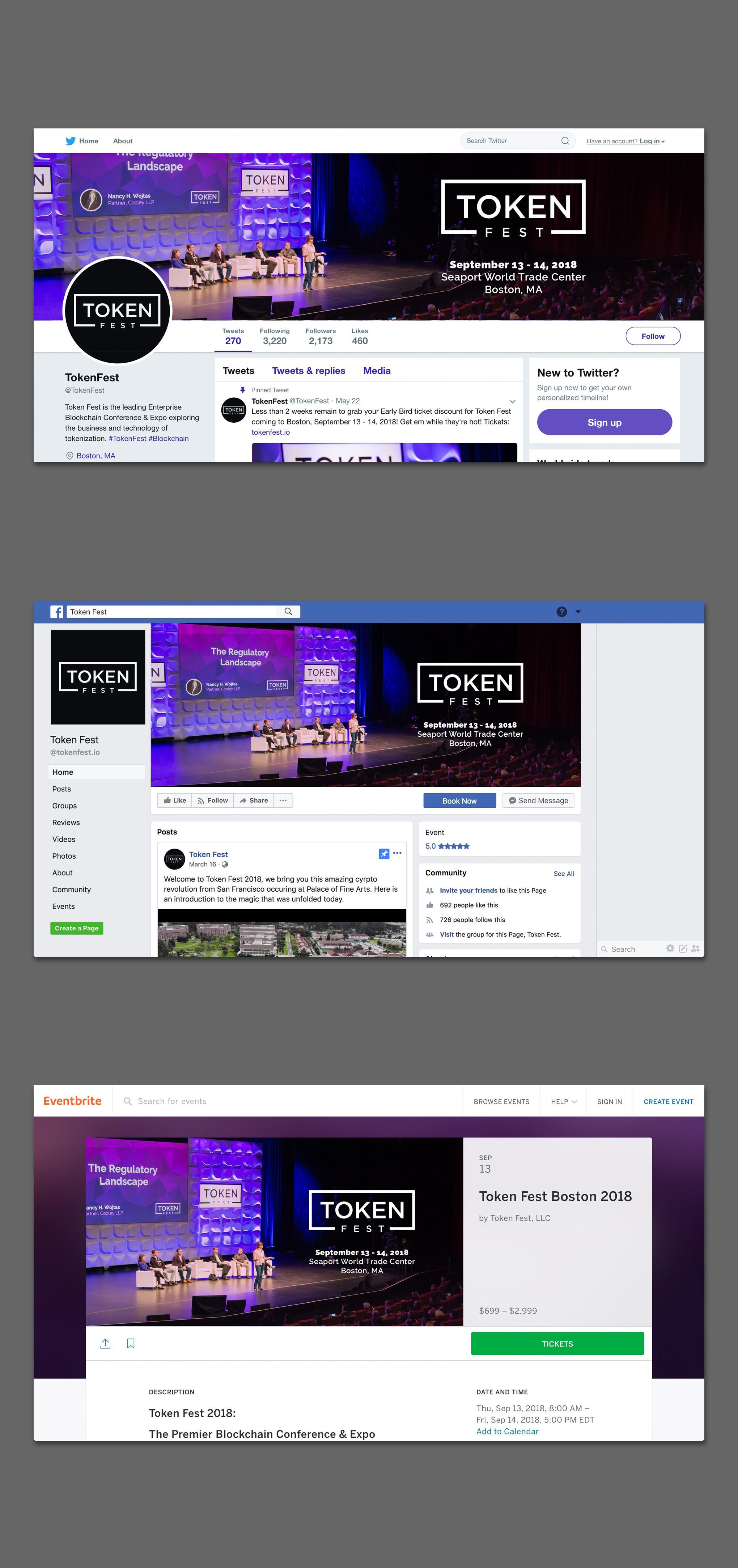 Token Fest (New Twitter & FB Cover Design)