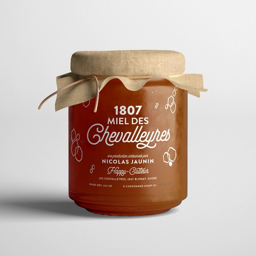 Honey Label for an organic product