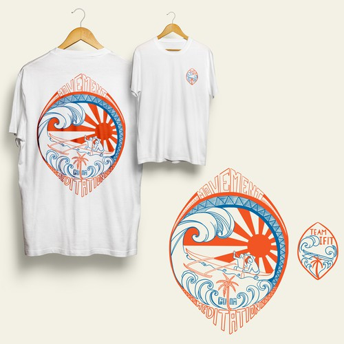 Guam tribal art inspired tees for team IFIT