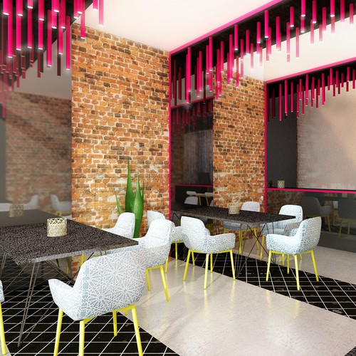 Arabic restaurant interior design