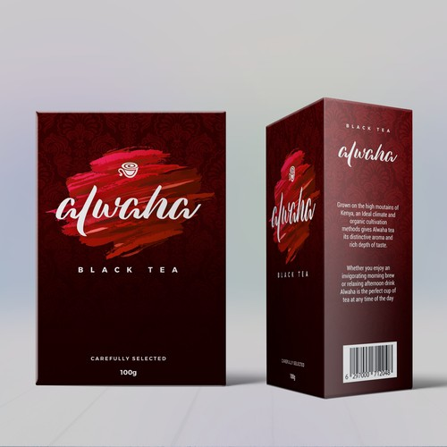 Black tea packaging/label design