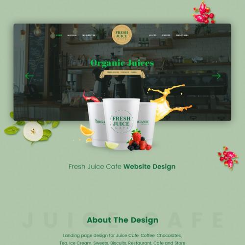 Juice Cafe Website Design