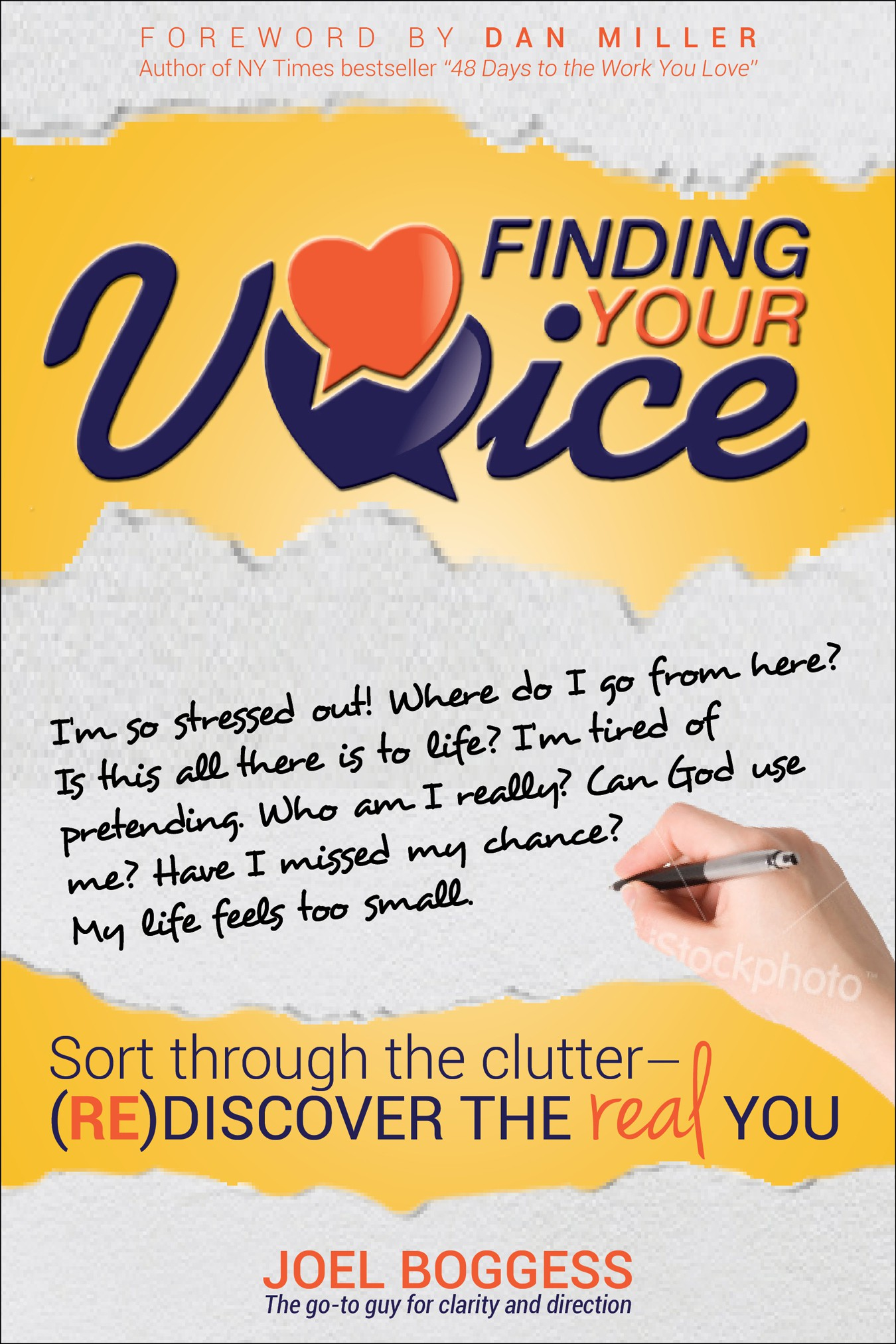 book or magazine cover for Finding your Voice