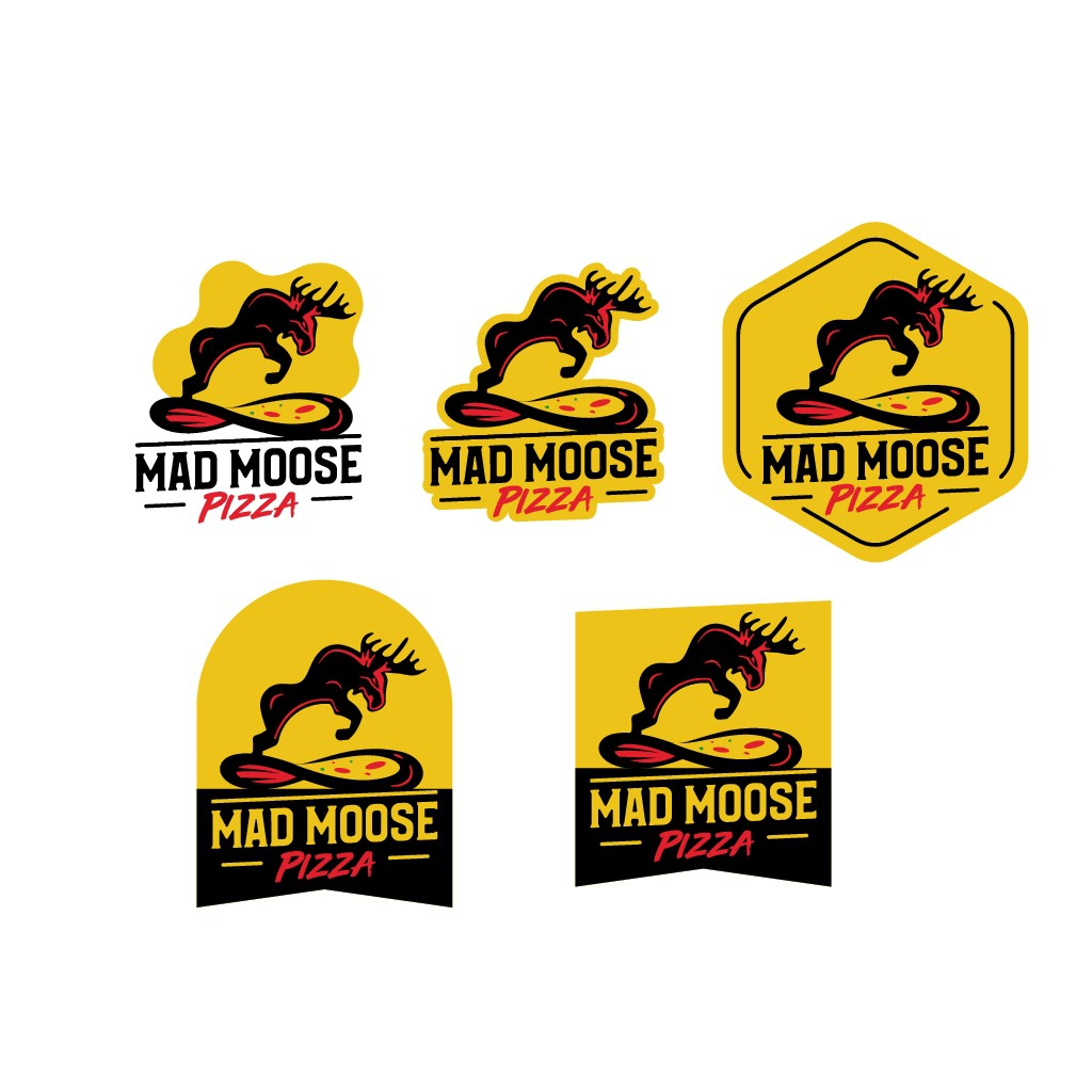 Design a logo for Mad Moose Pizza