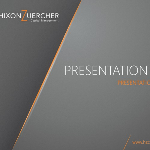 Powerpoint template for Hixon Zuercher Capital Management