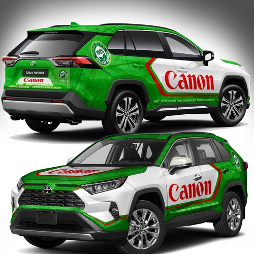 SUV Wrap Design for CANON