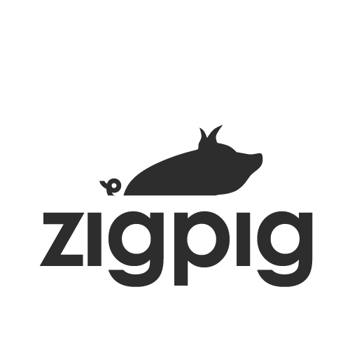 create a pig-themed logo