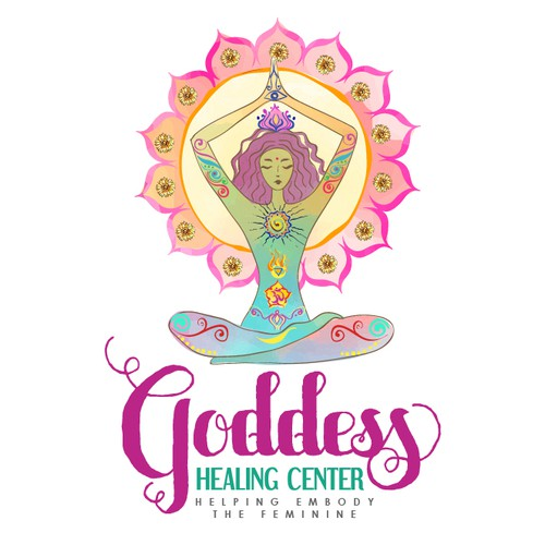 Colorful logo for a Yoga Healing Center