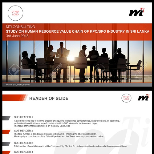 PPT Design for a Management Consultancy Group