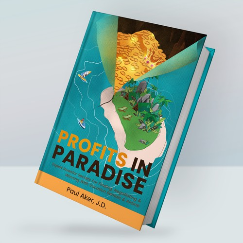 Book cover design for profits in paradise
