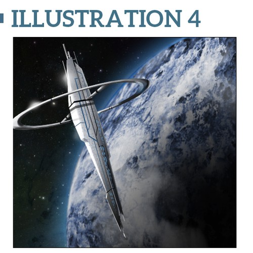 """Create business graphics (5 images), with inspiration to """"science fiction & technology"""", NOT A WEB SITES  or LOGO"""
