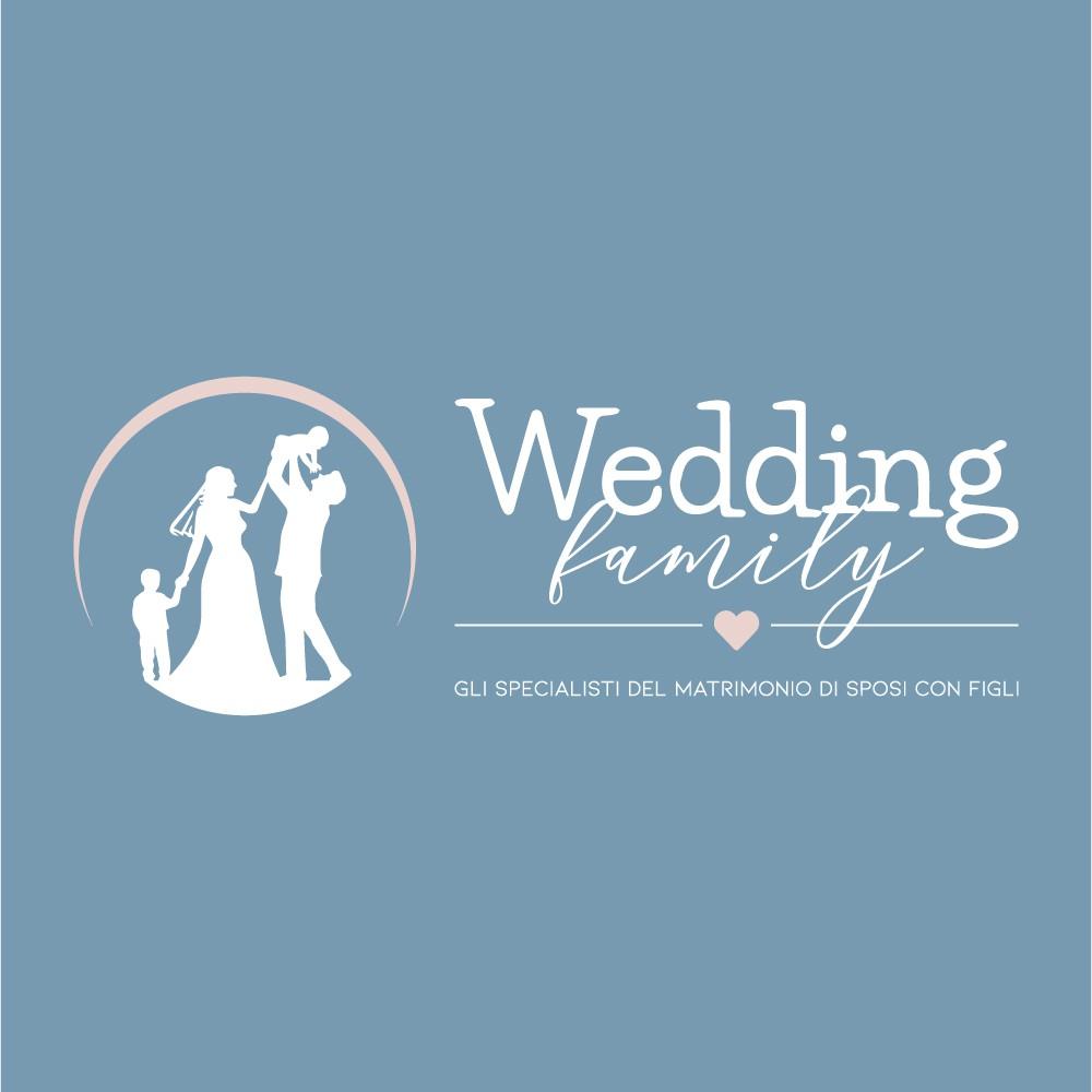 crea un logo moderno e cool per matrimonio di coppie con figli