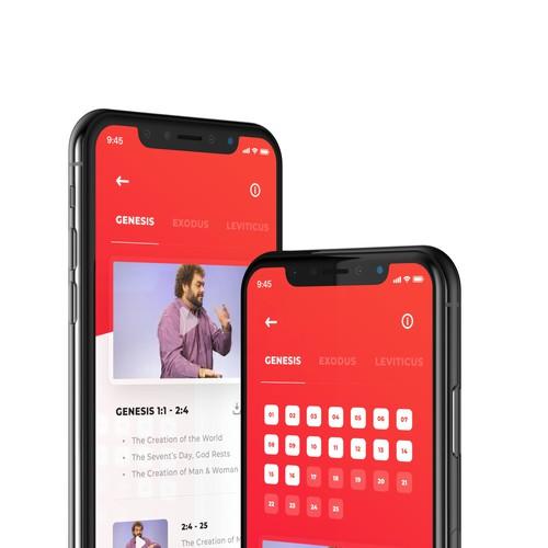 Video Bible app concept for deaf people.