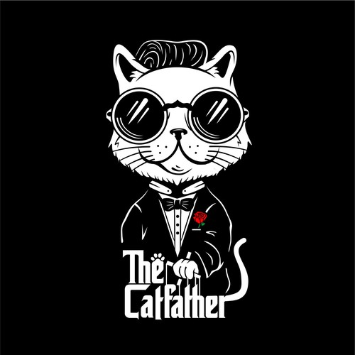 Cat father t-shirt design entry