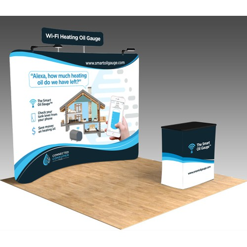 Sleek Booth Design for Tech Startup